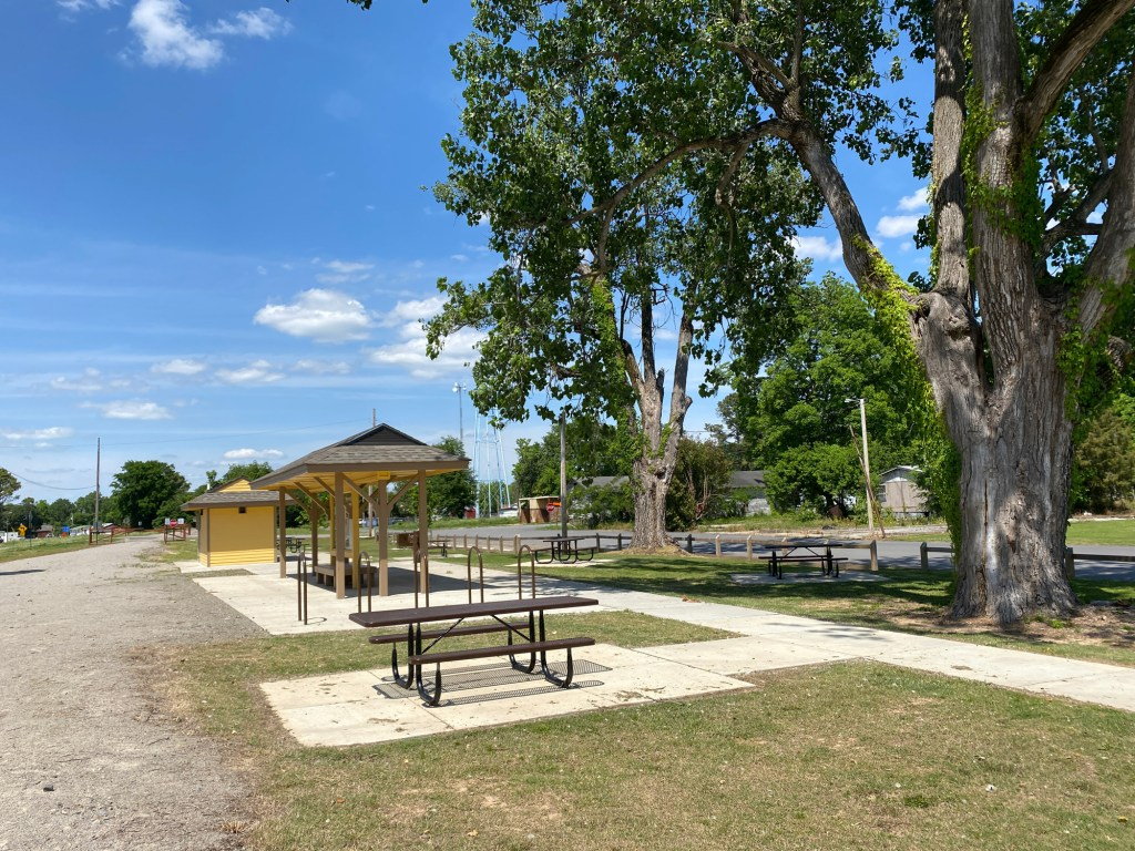 The trailhead at Watson is shown