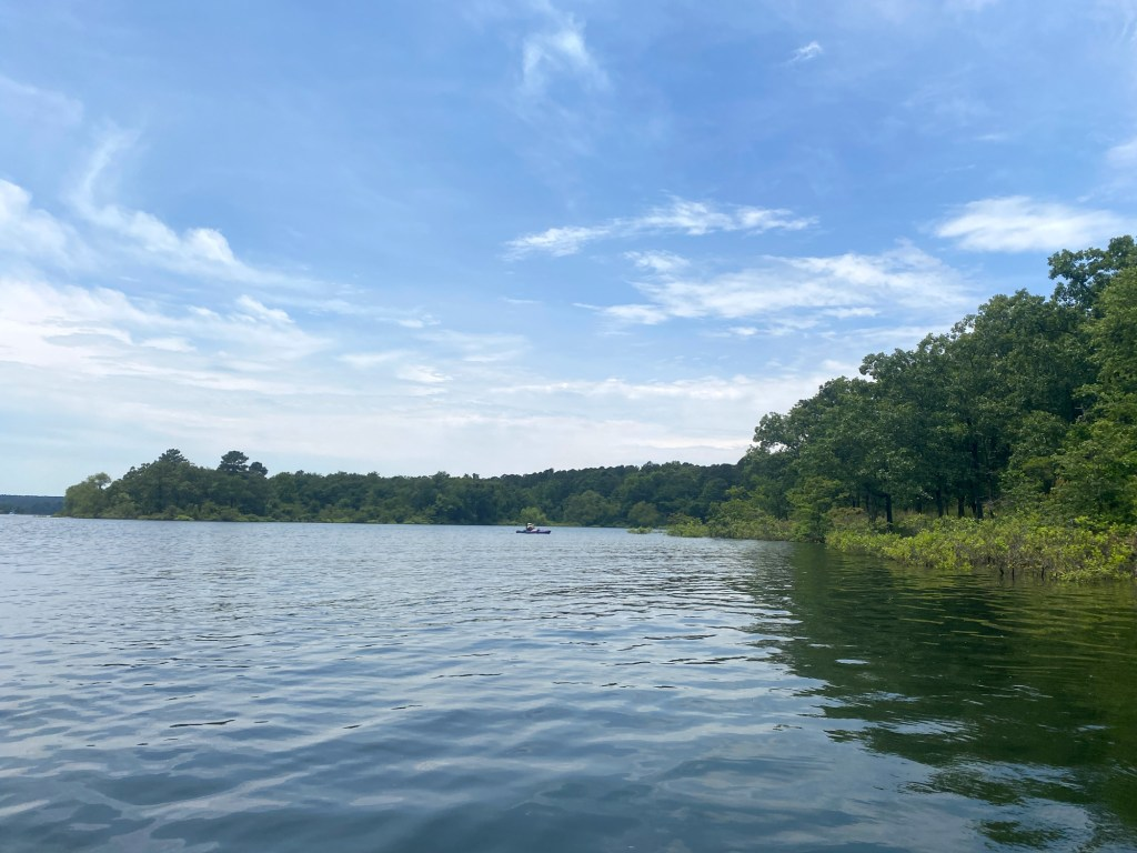 The scenery is shown at DeGray Lake