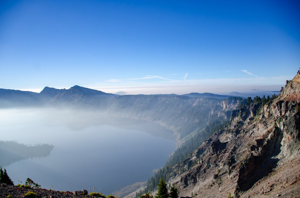 Crater Lake National Park is shown