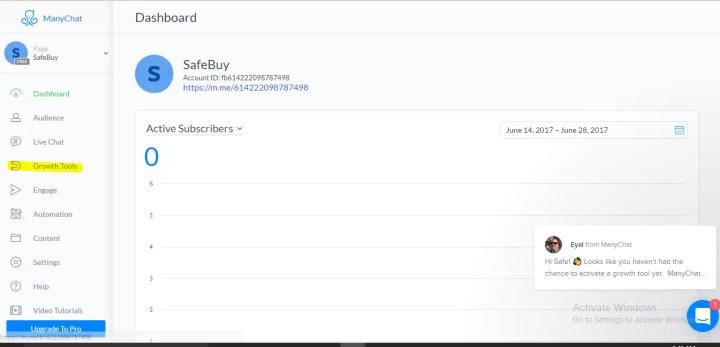 ManyChat Dashboard