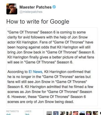 Write for Google
