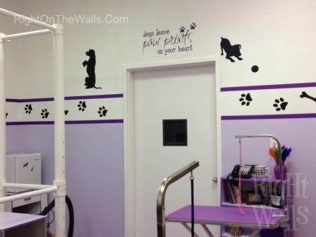 Dog Grooming Salon Wall Decals Decorating