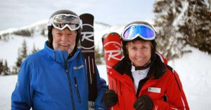 Retired Ski Couple