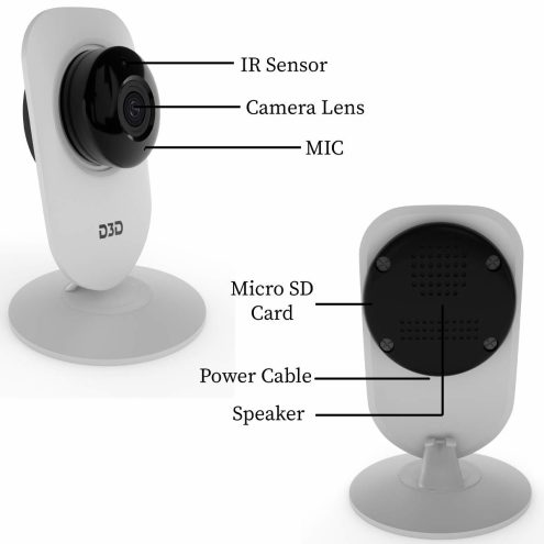 Click to view D3D T8817 HD 1080p Home Security Camera on Amazon.in
