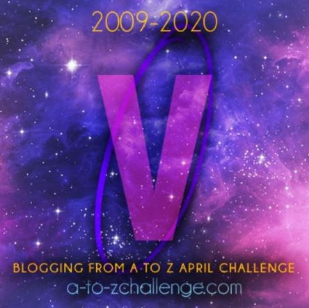 Pictures Shows a V standing for Video blog as a part of the #AtoZchallenge #BlogchatterA2Z challenge