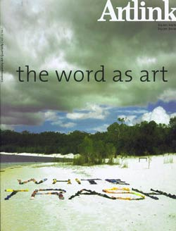 artlink cover: the word as art