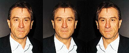 averaged morphed image of de niro