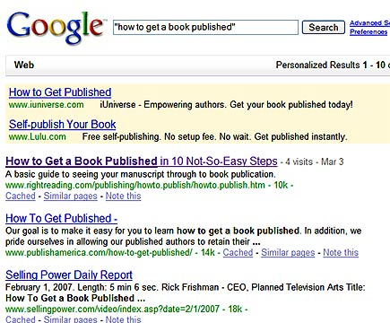 how to publish search results