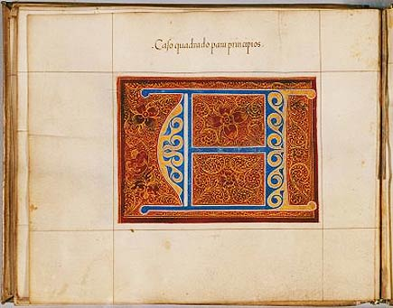 early spanish parchment design manuscript