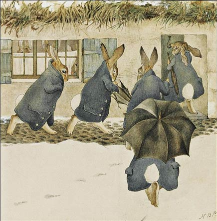 beatrix potter, the rabbit's arrival