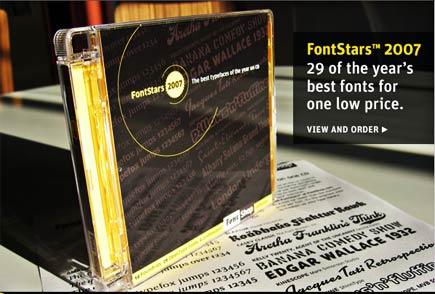 font stars of 2007