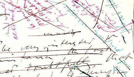 ms detail from joyce's ulysses