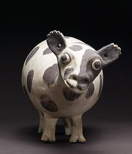 llama, chamay culture, earthenware, 1000-1470