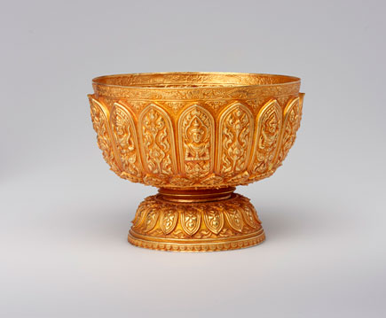 Thai gold bowl