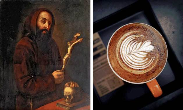 Left: Capuchin. Right: Cappuccino. The drink takes its name from the color of the monks' robes.