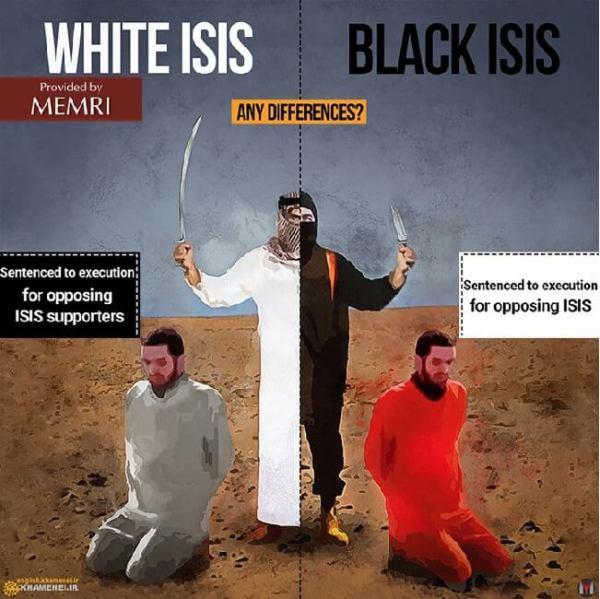 WHITE ISIS BLACK ISIS