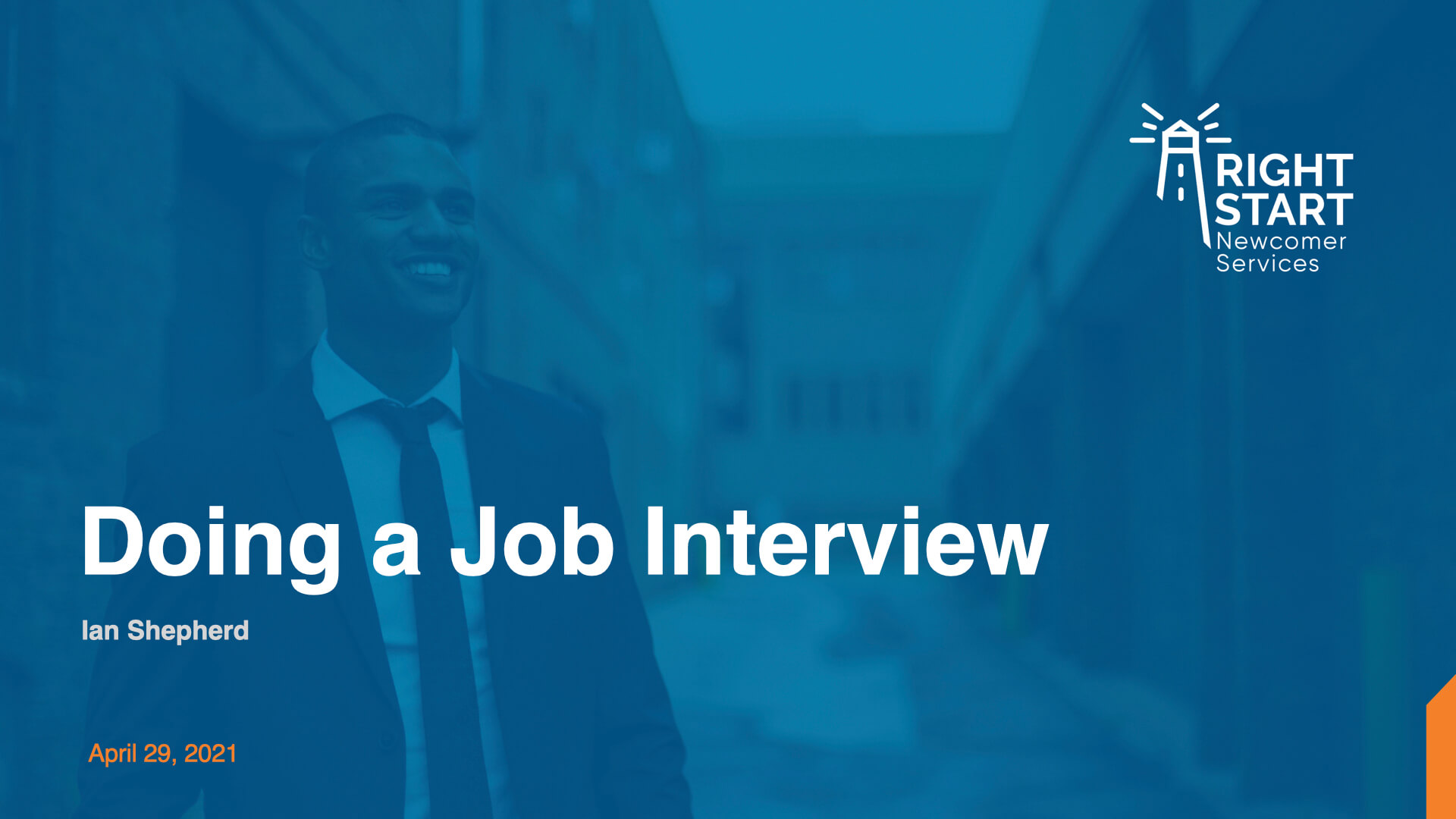 Learn Canadian English - Doing a Job Interview slides