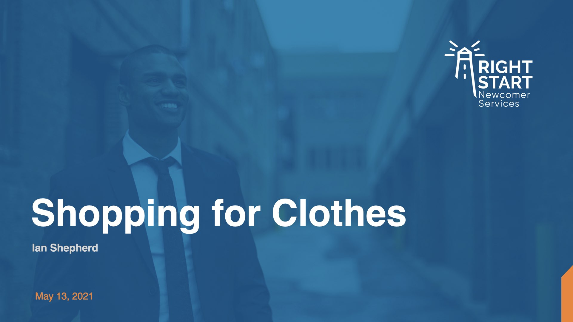 Learn Canadian English - Shopping for Clothes slides