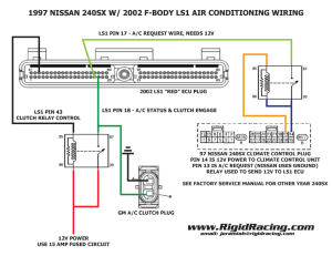 97 240SX with fbody LS1 Air Conditioning wiring – Rigid