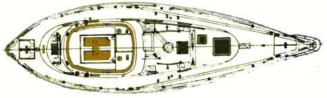 Tatyana Vancouver 42 Center Cockpit Deck Layout