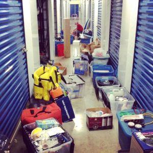 Items in storage to stow aboard Kandu