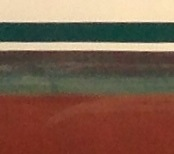 Close up, you can better see the cuprous oxide within the air exposed band of bottom paint.