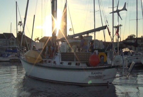 Kandu arrives at Alamitos Bay Yacht Club (photo Dave Terman)