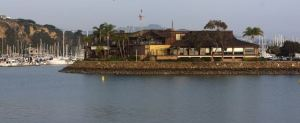 Dana Point Yacht Club as the sunsets