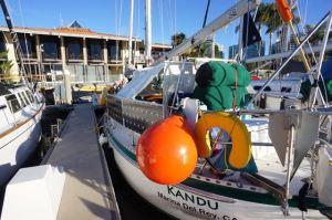 Kandu at California Yacht Club before departing to Long Beach