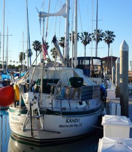 US Navy Yacht Club, Kandu awaits arrival of new controllers to San Diego.