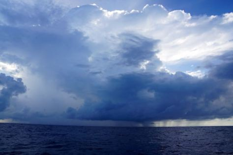 Squalls on route to Galapagos