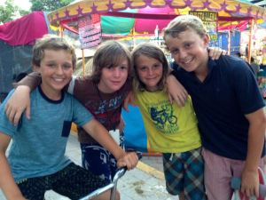 Trent, Matero, Shandro, and me at Mexican fair.