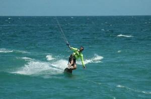 Merle kite-boarding in La Cruz, Mexico