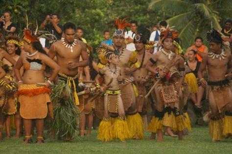 Nuku Hiva dancers rehearsing for Matava'a