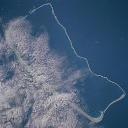 Fakarava as seen from satellite.