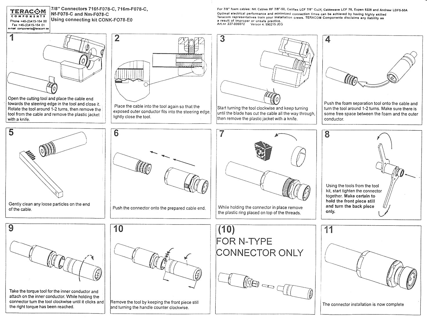 Cat 5 Cable Connectors Instructions