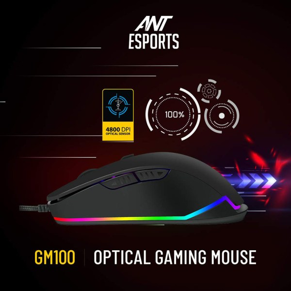 Ant Esports GM100 RGB Gaming Mouse