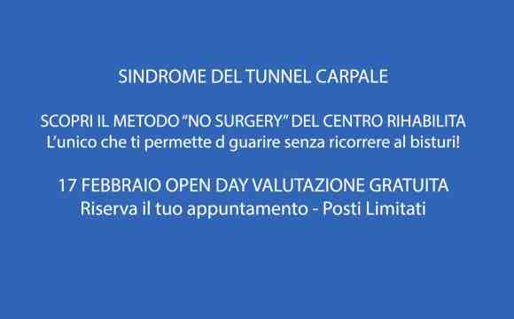 "METODO ""NO SURGERY"" SINDROME TUNNEL CARPALE"