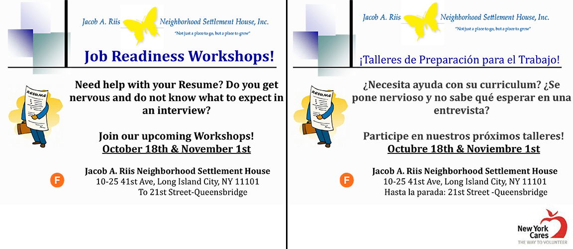 job readiness workshops skills identification and resume writing