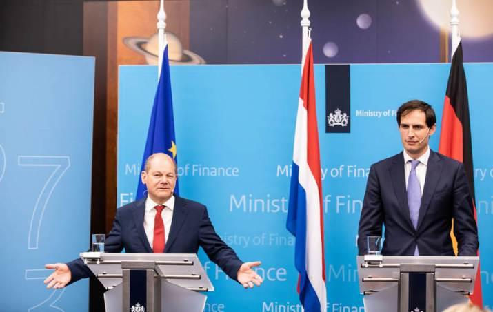 Persconferentie bezoek minister Scholz