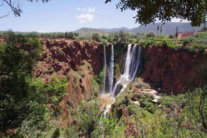 Die höchsten Wasserfälle Marokkos