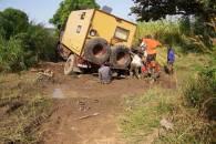 Mali Festgefahren im Tümpel