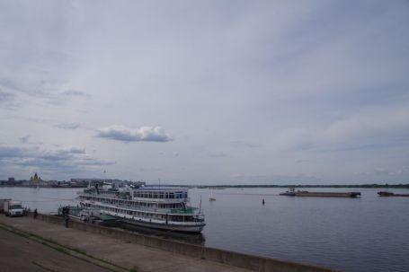 Die Wolga in Nischnij Nowgorod
