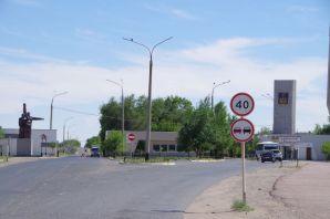 """Russische Enklave """"Stadt Baikonur""""..."""