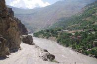 Die Strecke nach Khorog, entlang der Afghanischen Flussgrenze