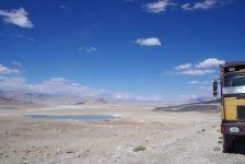 Fotostopp auf dem asphaltierten Teil des Pamir-Highways...
