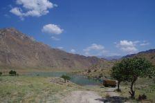 Der Stellplatz am Tien-Schan-Highway Richtung Karakul