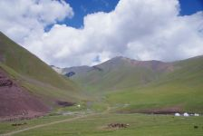 Auf der Suusamir-Hochebene in ca. 2800 m Höhe