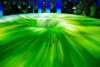 ...eine beeindruckende Energie-Laser-Show zum Abschluss den Höhepunkt