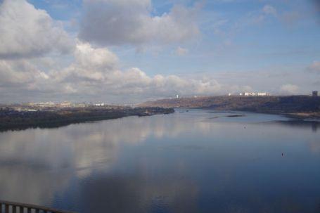 Querung der Wolga bei Nischni Nowgorod